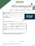 Formulario Consulta Al Indice de Titulares RPIBA