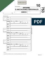 Anexo de Formulario de Anotaciones Personales