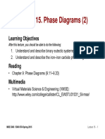 MSE 3300-Lecture Note 15-Chapter 09 Phase Diagrams