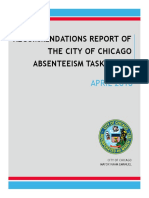Absenteeism Task Force Report