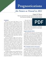 IAQ Report Prognostications - 2011