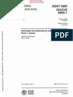 NBR ISO CIE 8995-1 - 2013 - Iluminação de ambientes de trabalho