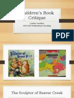 Guenther, Landon, EDUC255 00H, Children's Book Critique