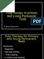 pulptherapyforprimaryandyoungteeth-130321135200-phpapp02