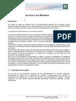 M1 Lectura 1 - Introducción a Los Modelos - Modelos de Inventarios
