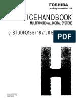 Toshiba e Studio 165 167 205 207 237 Service HandBook
