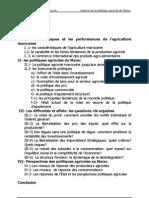 POLITIQUE MAROCAINE AGRI