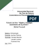 Antropología - Vigilar y Castigar - Fichado - Completo