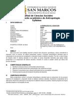 Silabo Antropología de La Educación 2016 - I. M. Giesecke