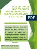 Propuesta de Gestión de Dirección de Educación