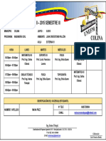Horarios. Ing. Civil. II-2015