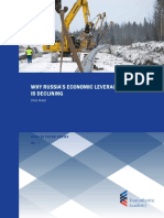 Why Russia's Economic Leverage is Declining