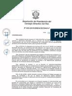 Resolución N°033-2016-SINEACE-CDAH-P