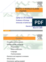How to Write a World Class Paper
