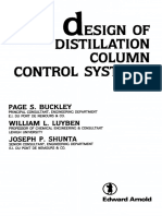Design of Distillation Column Control Systems