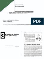 El Analisis de Puestos y Sus Aplicaciones