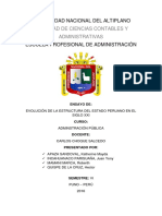 Evolución de La Estructura Del Estado Peruano en El Siglo Xxi