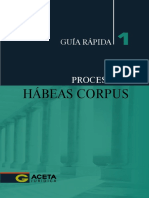 Proceso de Habeas Corpus - Guia Rapida