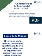 Tema 1, Semana 1 La Administración I 2016-I.pptx