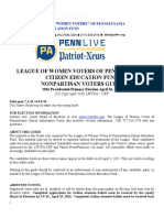 League of Women Voters of Pennsylvania Citizen Education Fund Nonpartisan Voters Guide