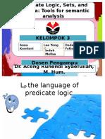 Predicate logic, sets, and lambda
