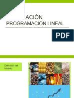 Modelación Programación Lineal