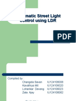 Automatic control of street light