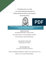 Análisis Lingüístico de Dos Obras de Salarrué. Cuentos de Cipotes y Cuentos de Barro