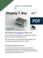 Handout Raspberry Pi Workshop Touchdisplay