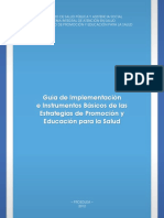 Guía de Implementación Estrategias de Promoción Borrador