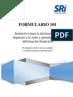 Formulario 101 Instructivo