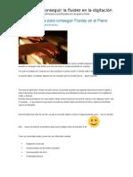 Tips y Consejos Para Conseguir Fluidez en El Piano