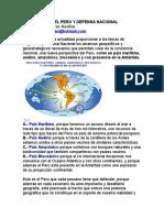 Geopolítica Del Perú y Defensa Nacional