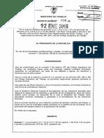 Decreto 36 Del 12 de Enero de 2016