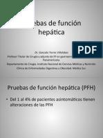 Gastro- Pruebas de Fx Hepática