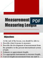 Measurement and Measuring Length