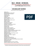 Act Vocabulary Words