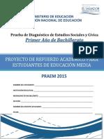 Prueba de Diagnóstico - Estudios Sociales - Primer Año Bachillerato - PRAEM 2015