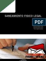 Saneamiento Fisico Legal