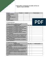 Instrumento Para Evaluar Planes de Estudios