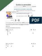 Evalúo Lo Aprendido Clase 1 Fracciones Con Distinto Denominador