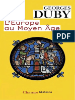 Duby Georges - L'Europe Au Moyen Age