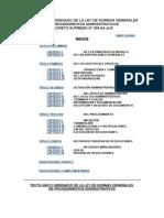 Texto Único Ordenado de La Ley de Normas Generales