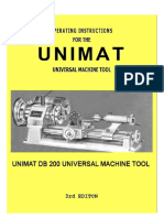 Unimat MUNIMAT MACHINE TOOL 3RD EDITIONachine Tool 3rd Edition