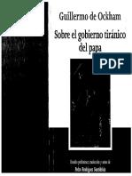 Ockham, G. - Sobre El Gobierno Tiránico Del Papa