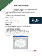 Grafik 3 Dimensi Di Matlab