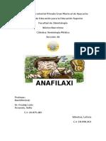 Anafilaxia Listo