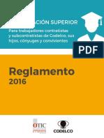 Reglamento 2016 Becas Estudios