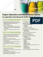 CFR Engine Course Information