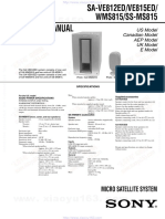 sony active subwoofer service manual